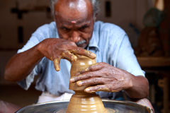 Indian Village Potter Stock Photo
