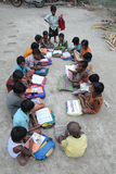 Indian village students. Royalty Free Stock Images