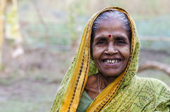 Indian Village Woman. An old woman in an Indian village royalty free stock photos