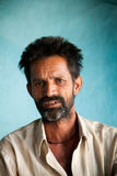 Indian villager man. Close-up of an old face of Indian villager man having wrinkle and tiredness on face Stock Photography
