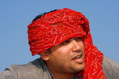 Indian villager saying something. A smart Indian villager trying to say something Stock Photo