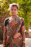Indian villager woman. Indian happy villager woman  standing , looking at camera Stock Image