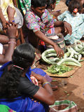 Indian villagers sell squash, cucumbers Royalty Free Stock Photography