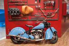 Indian vintage motorbike at EICMA 2013 in Milan, Italy Royalty Free Stock Photos