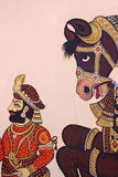 Indian wall art detail Royalty Free Stock Images