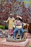 Indian warrior Sculpture. SANTA FE, NM USA APRIL 21: Indian warrior Sculpture, Santa Fe, NM: on april 21, 2014 in Santa Fe, NM. Works of art are an integral part Stock Image