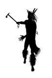 Indian warrior with tomahawk Stock Photos