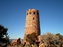 Indian Watchtower in Arizona. A historical indian watchtower near the Grand Canyon royalty free stock photo