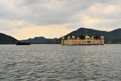 Indian water palace on Jal Mahal lake, Jaipur Royalty Free Stock Photo