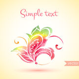 Indian watercolor element greeting card. Stock Photos