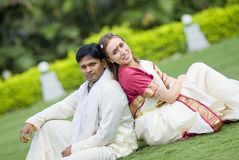 Indian wedding. International couple married according to indian traditions Royalty Free Stock Images