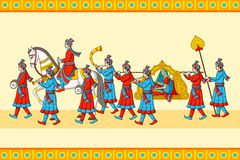 Indian wedding baraat ceremony Stock Image