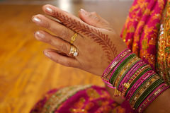 Free Indian Wedding Bride Getting Henna Applied Royalty Free Stock Photography - 5233877