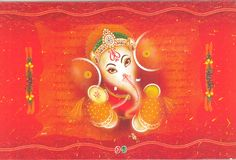 Indian wedding card Stock Images