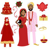 Indian wedding collection Royalty Free Stock Photos