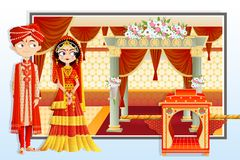 Indian Wedding Couple. Easy to edit vector illustration of Indian wedding couple Stock Image