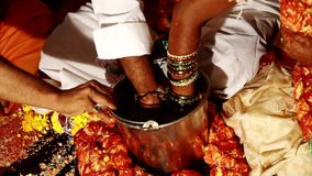Indian wedding day stock video footage