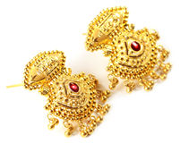 Indian wedding earrings for bride Royalty Free Stock Photos