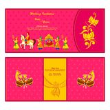 Indian wedding invitation card Stock Photos