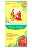 Indian wedding invitation card Royalty Free Stock Image