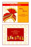 Indian wedding invitation card Stock Images