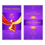 Indian wedding invitation card vector illustration
