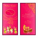 Indian wedding invitation card Stock Photos