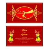 Indian wedding invitation card Stock Image