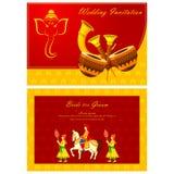 Indian wedding invitation card Stock Photo