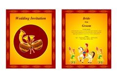 Indian wedding invitation card Royalty Free Stock Photos