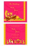 Indian wedding invitation card stock illustration