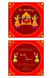 Indian wedding invitation card Royalty Free Stock Photography