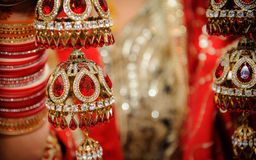 Indian Wedding 1. Indian Wedding Jewellery worn by Indian brides on her wedding day Royalty Free Stock Image