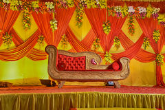 Indian Wedding Love Seat Stock Image