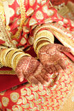 Indian wedding pattern on hands Stock Photo