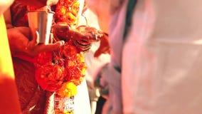 Indian wedding ritual stock video