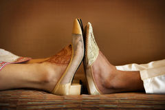 Indian Wedding Shoes Stock Photography