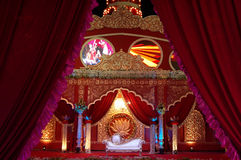 Indian wedding stage mandap Stock Images