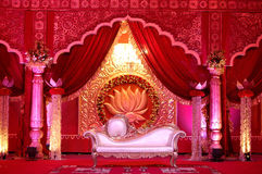Indian wedding stage mandap Royalty Free Stock Photos