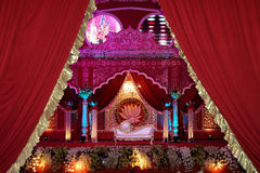 Indian wedding stage mandap Stock Photos