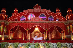 Indian wedding stage mandap Royalty Free Stock Images