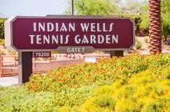 Indian Wells tennisträdgård arkivfoton