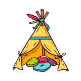 Indian wigwam for kids room  on white Stock Photos
