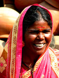Indian Woman. A poor Indian woman in a traditional wear Stock Photography