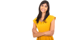 Indian woman arms folded Stock Photography