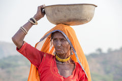 Indian woman at the attended the annual Pushkar Camel Mela Stock Images