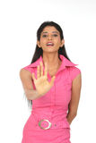 Indian woman in avoiding expression Stock Photography
