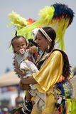 Indian woman with a baby Stock Image