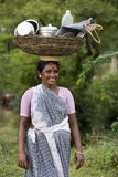 Indian Woman - Balance - Carry - India Royalty Free Stock Photo