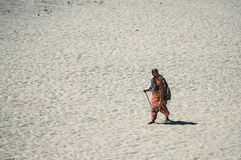 Indian woman on a beach Stock Photography